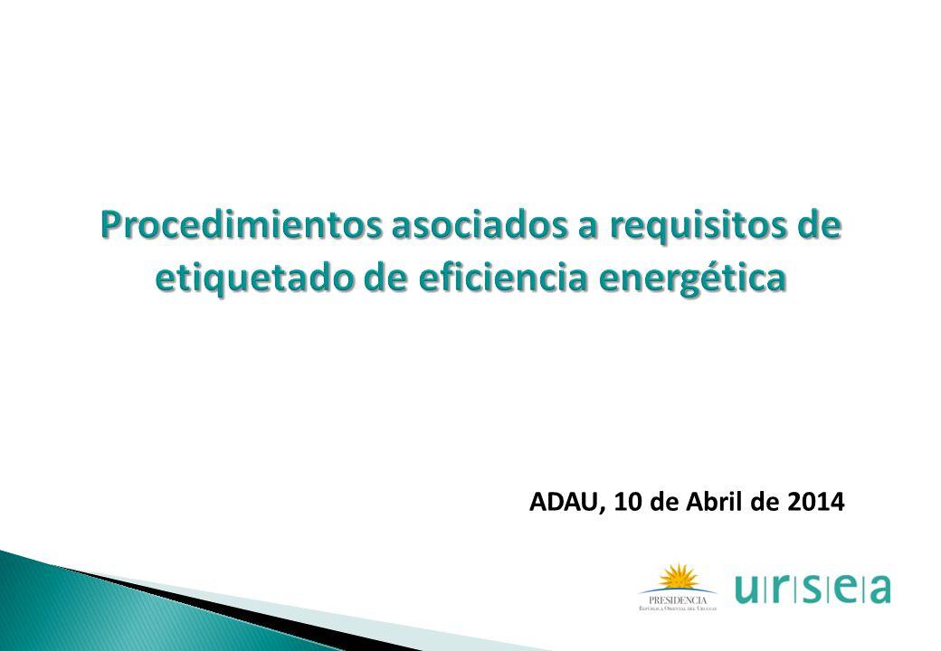 Procedimientos asociados a requisitos de etiquetado de eficiencia energética