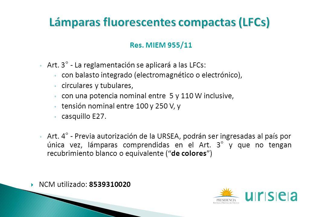 Lámparas fluorescentes compactas (LFCs)