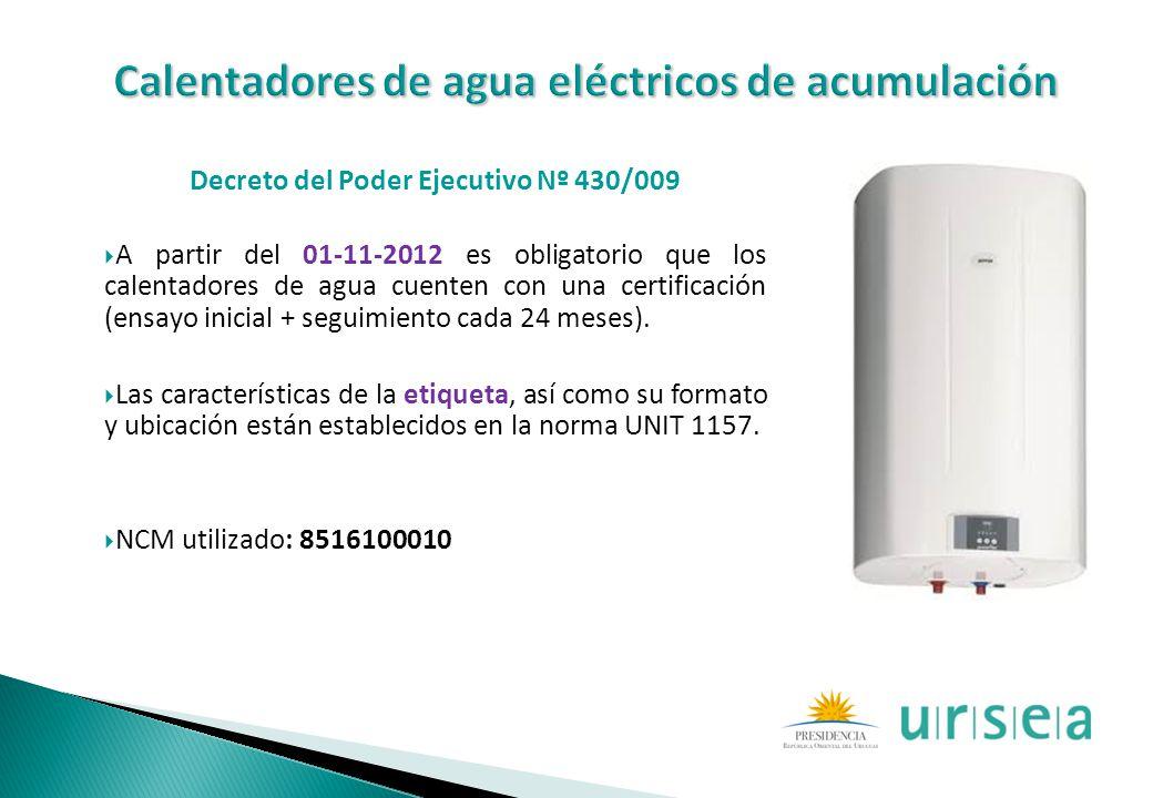 Calentadores de agua eléctricos de acumulación