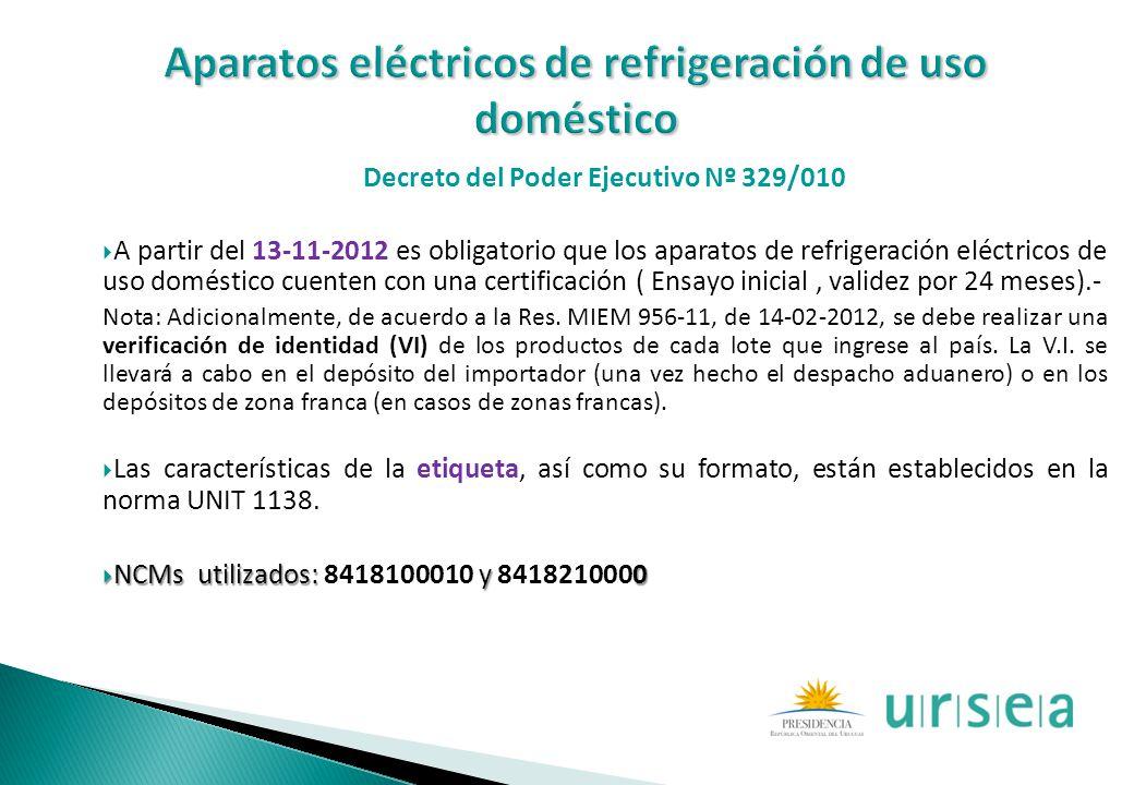 Aparatos eléctricos de refrigeración de uso doméstico