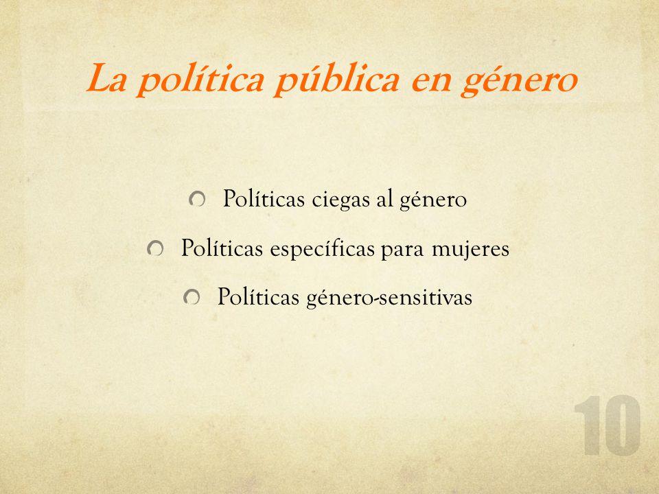 La política pública en género