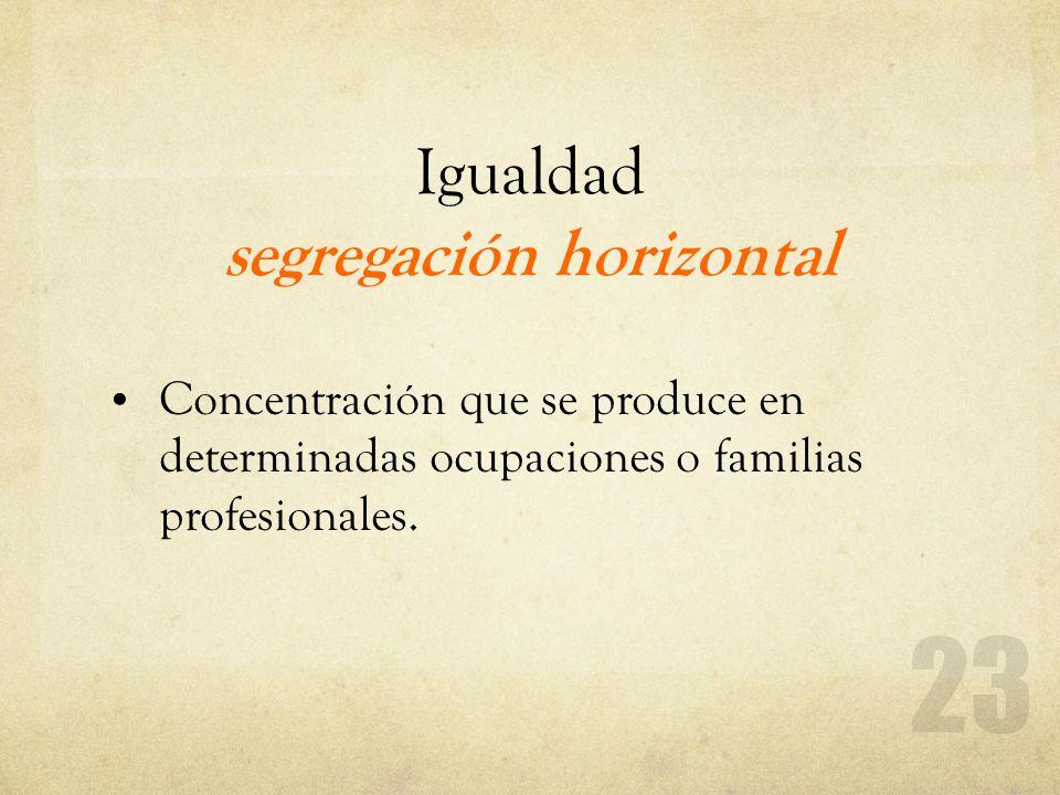 Igualdad segregación horizontal