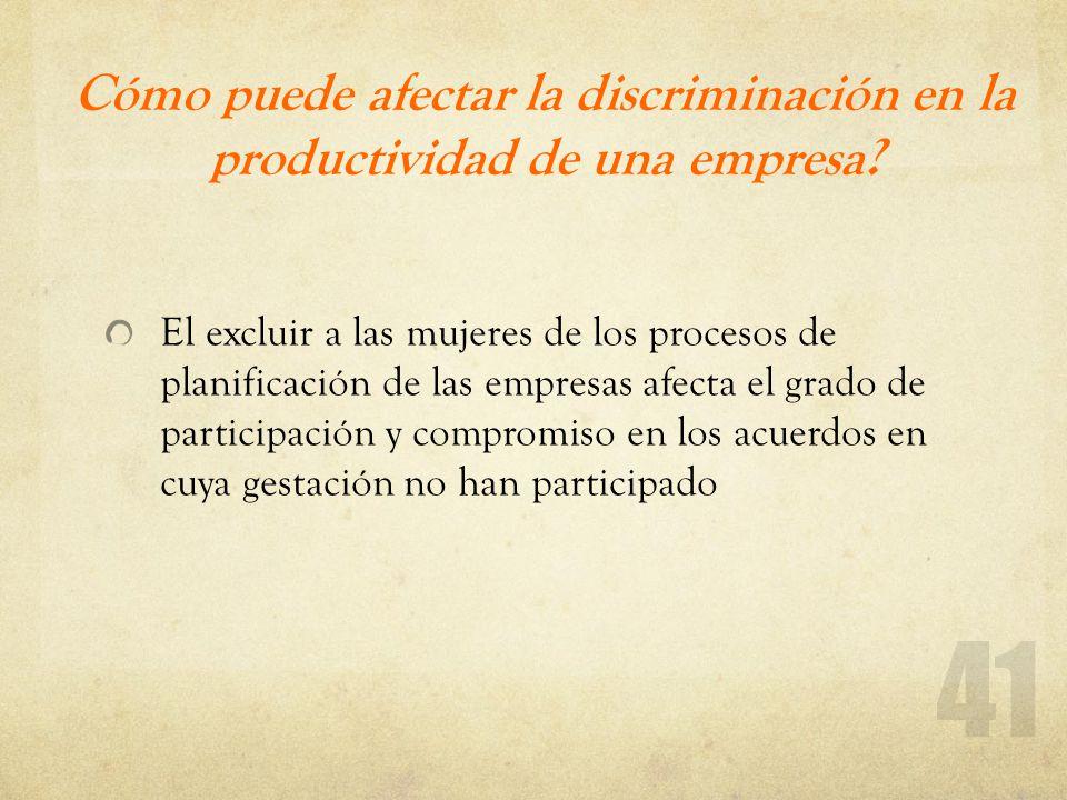 Cómo puede afectar la discriminación en la productividad de una empresa
