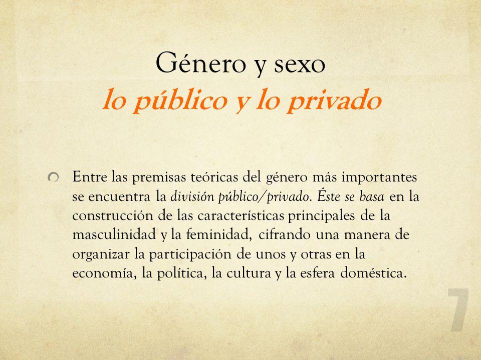 Género y sexo lo público y lo privado