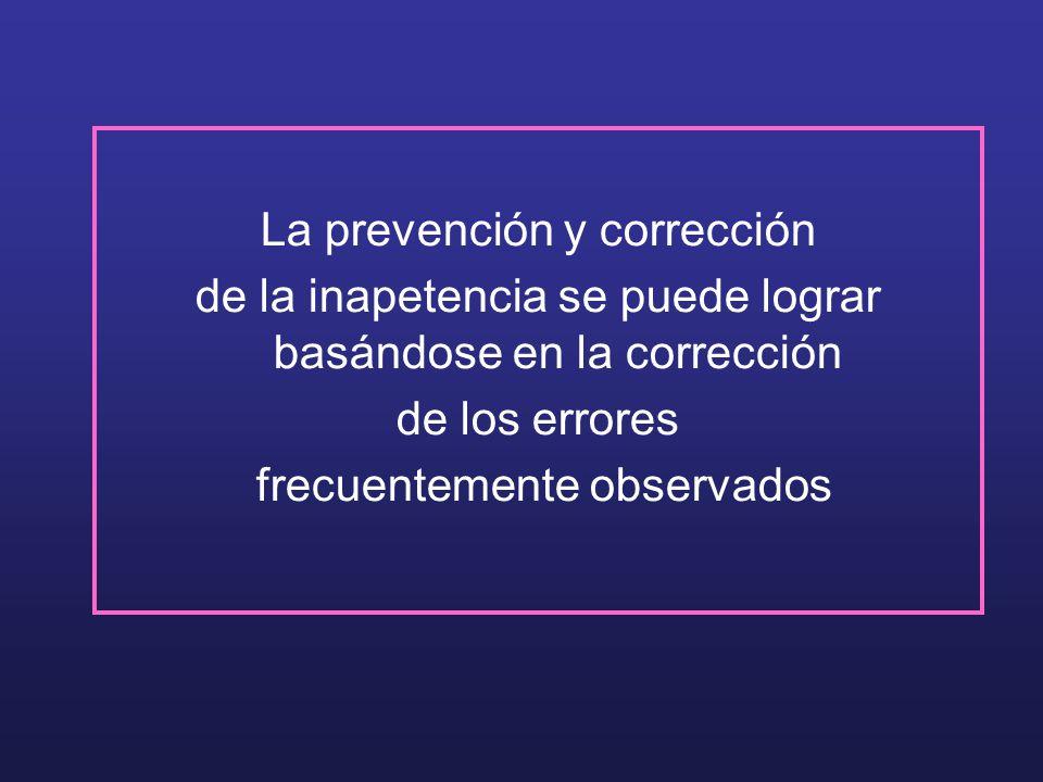 La prevención y corrección