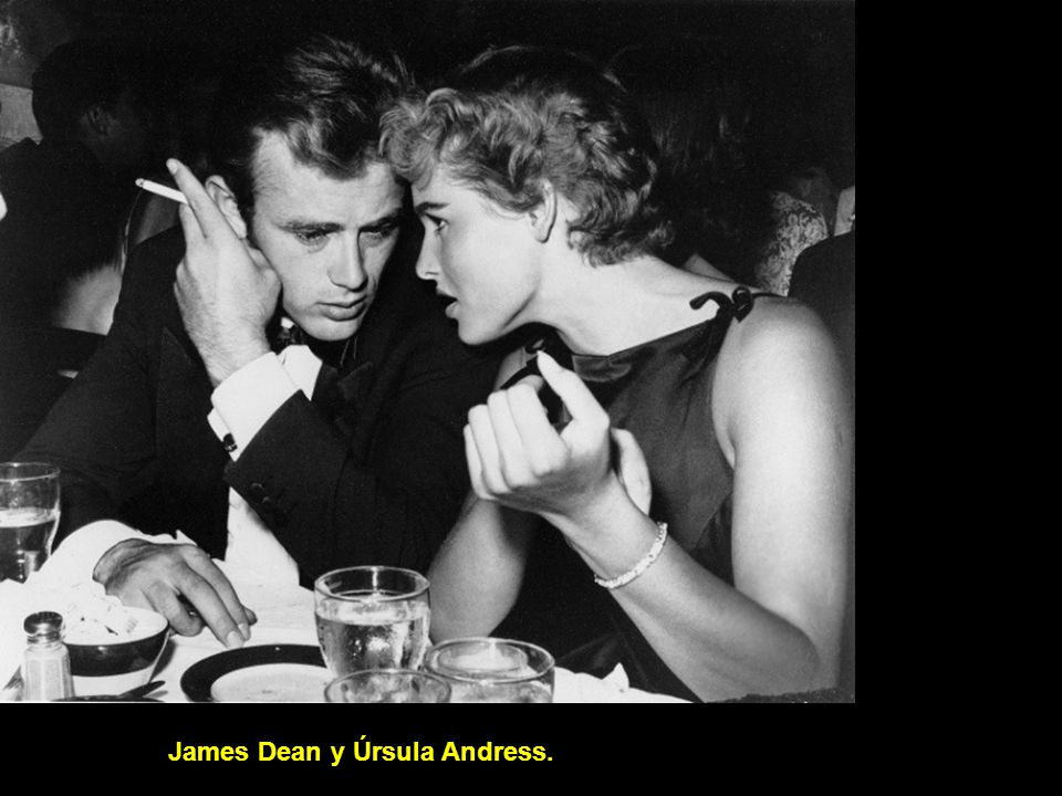 James Dean y Úrsula Andress.