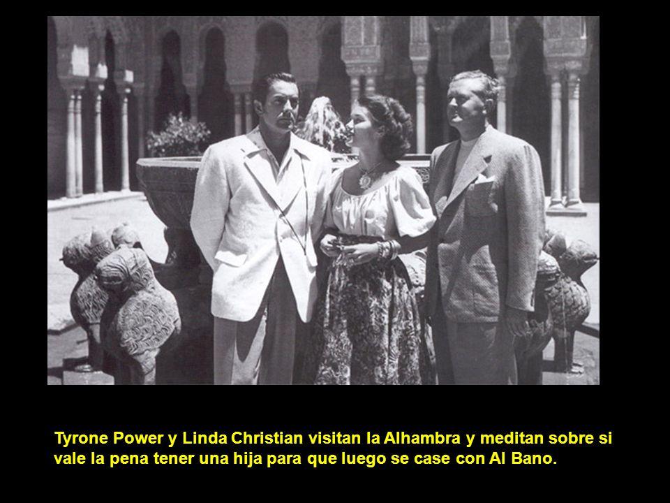 Tyrone Power y Linda Christian visitan la Alhambra y meditan sobre si vale la pena tener una hija para que luego se case con Al Bano.