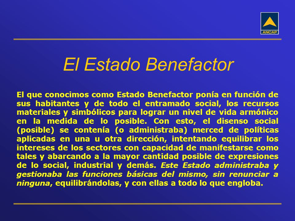 El Estado Benefactor