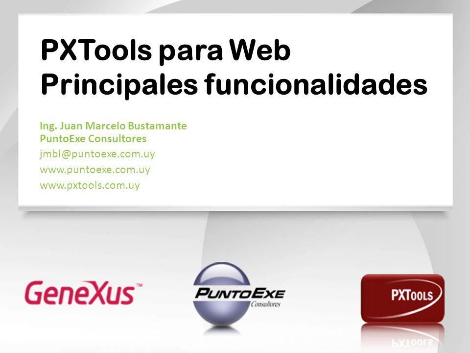 PXTools para Web Principales funcionalidades