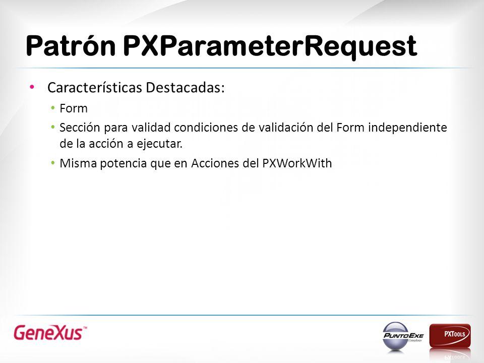 Patrón PXParameterRequest