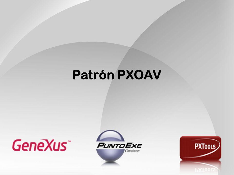 Patrón PXOAV El área de edición de pólizas era compleja por dos motivos: Contenía pantallas (principalmente Transacciones) complejas.