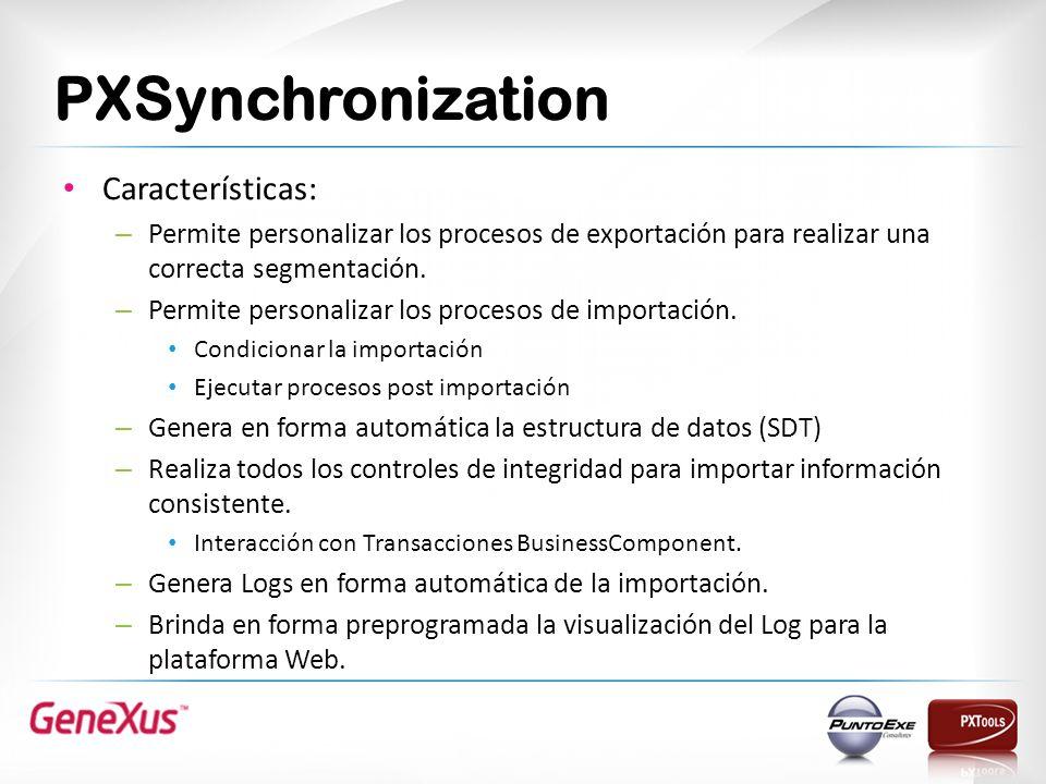 PXSynchronization Características: