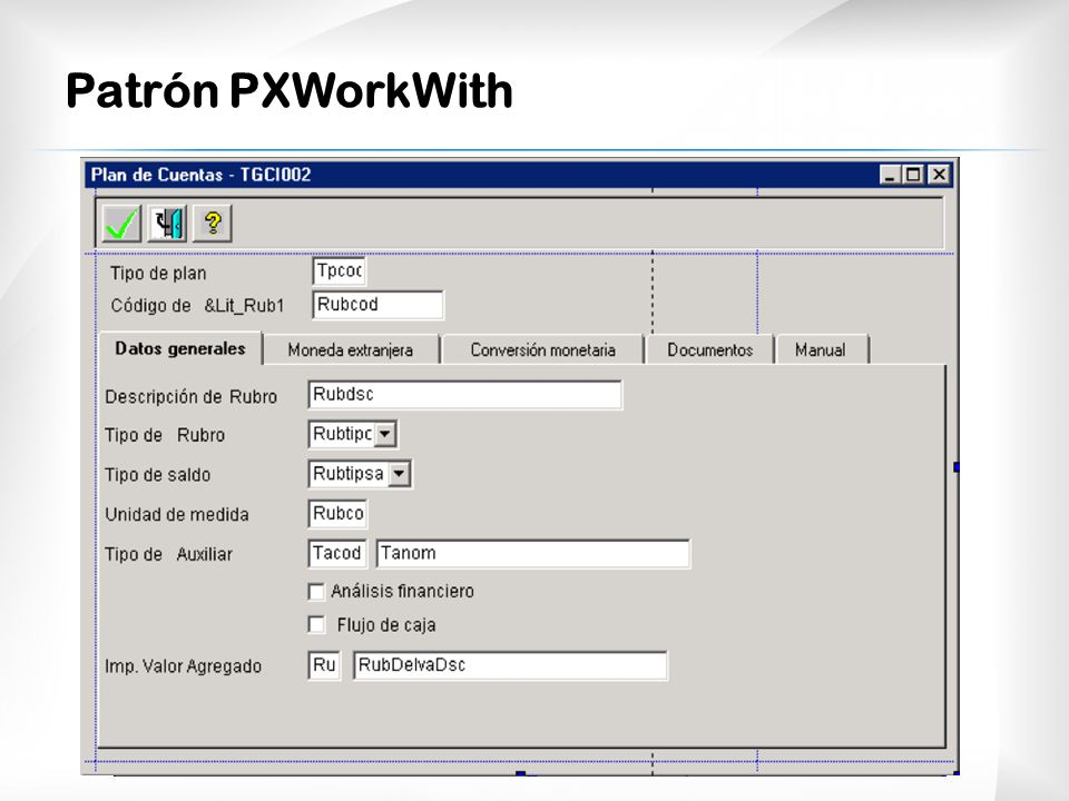 Patrón PXWorkWith