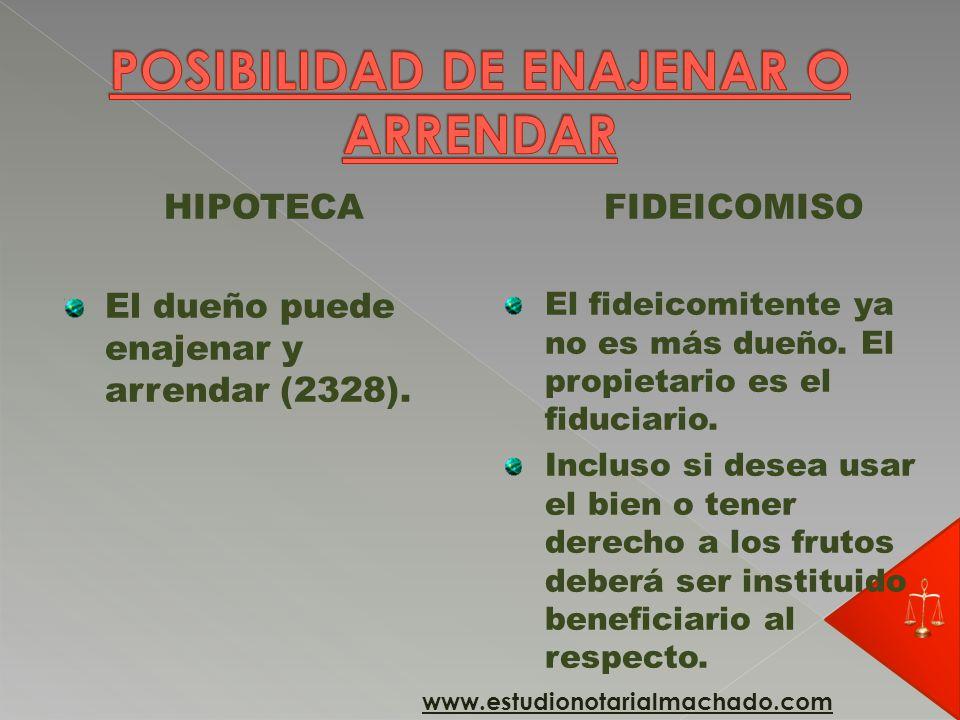 POSIBILIDAD DE ENAJENAR O ARRENDAR