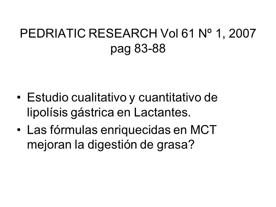PEDRIATIC RESEARCH Vol 61 Nº 1, 2007 pag 83-88