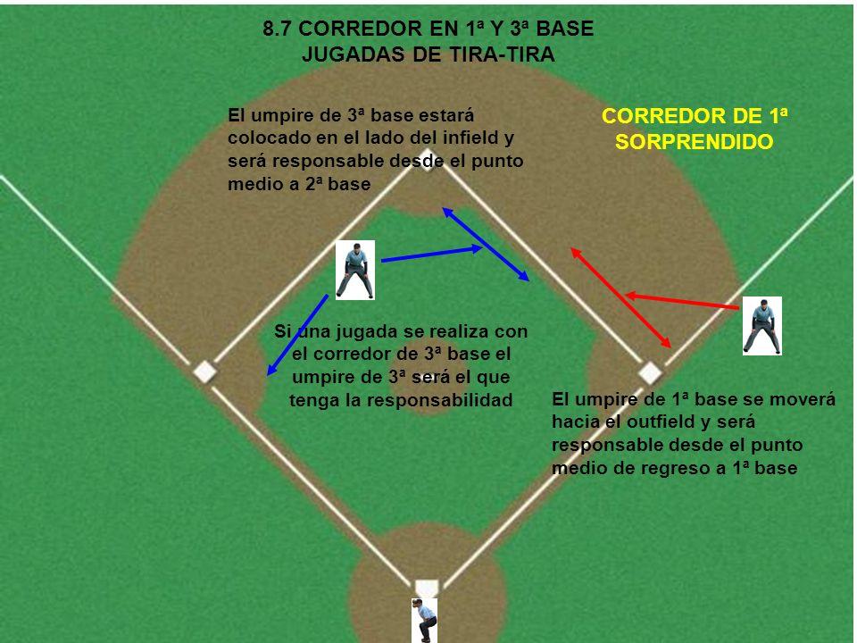 8.7 CORREDOR EN 1ª Y 3ª BASE JUGADAS DE TIRA-TIRA