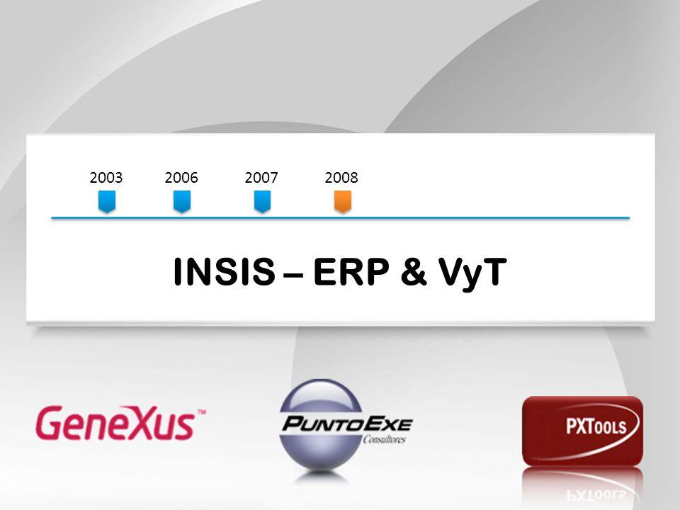 2003 2006. 2007. 2008. INSIS – ERP & VyT.