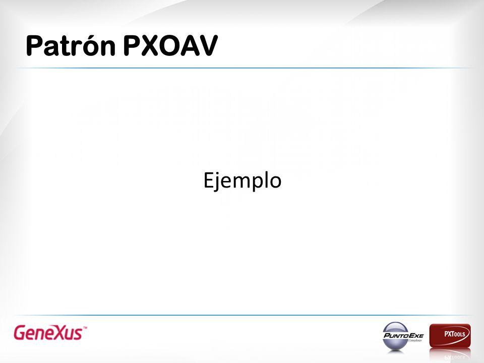 Patrón PXOAV Ejemplo El resultado lo podemos ver con éstas imágenes.