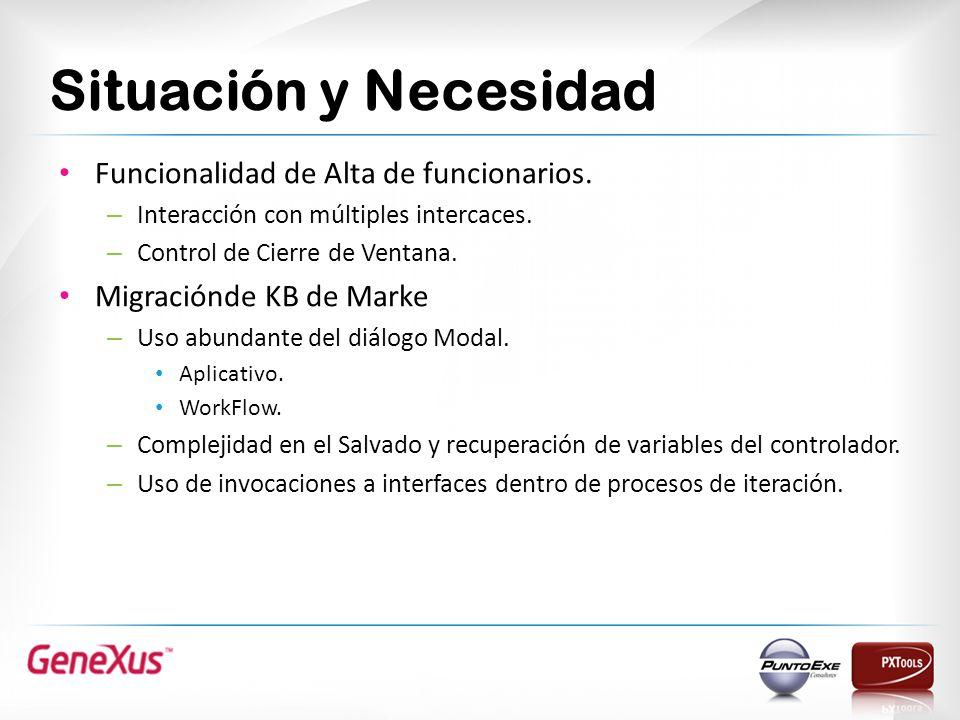 Situación y Necesidad Funcionalidad de Alta de funcionarios.