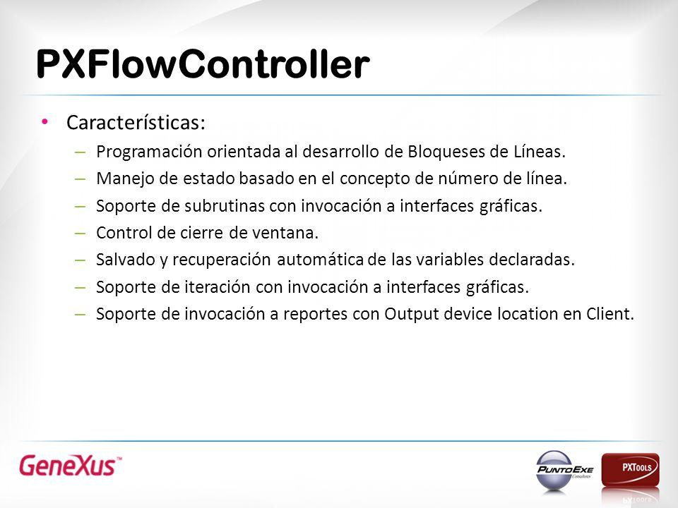 PXFlowController Características: