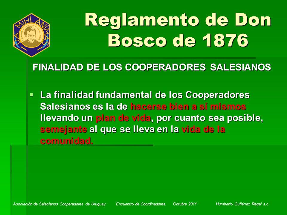 Reglamento de Don Bosco de 1876
