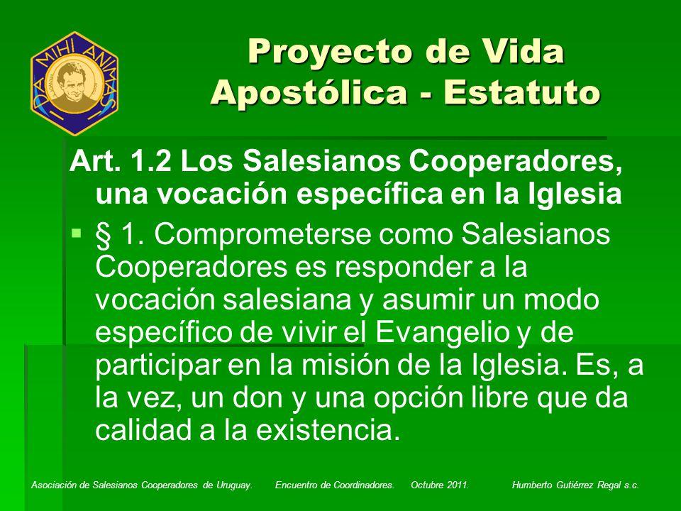 Proyecto de Vida Apostólica - Estatuto