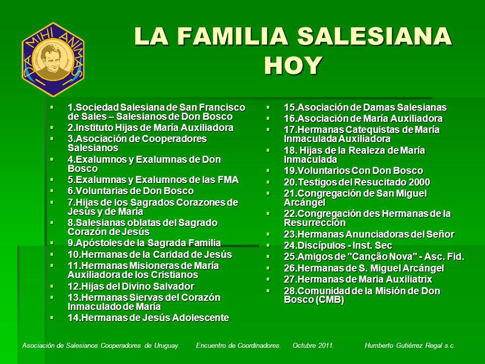 LA FAMILIA SALESIANA HOY