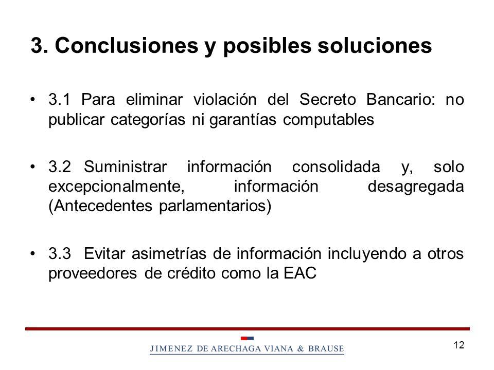 3. Conclusiones y posibles soluciones