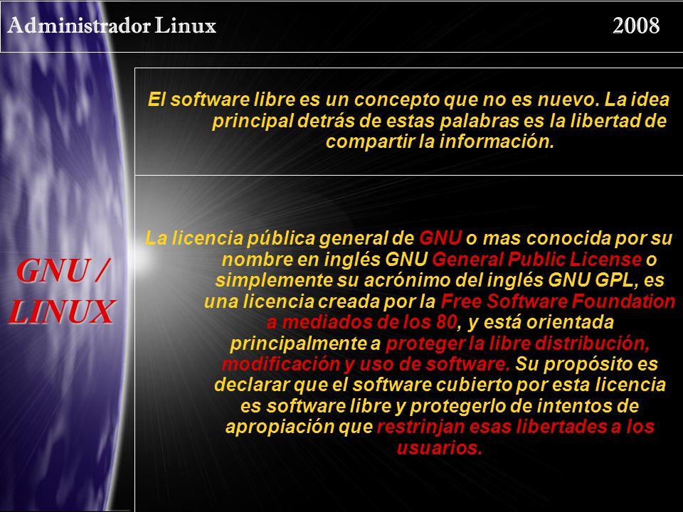 GNU / LINUX Administrador Linux 2008