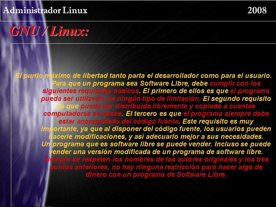 GNU / Linux: Administrador Linux 2008