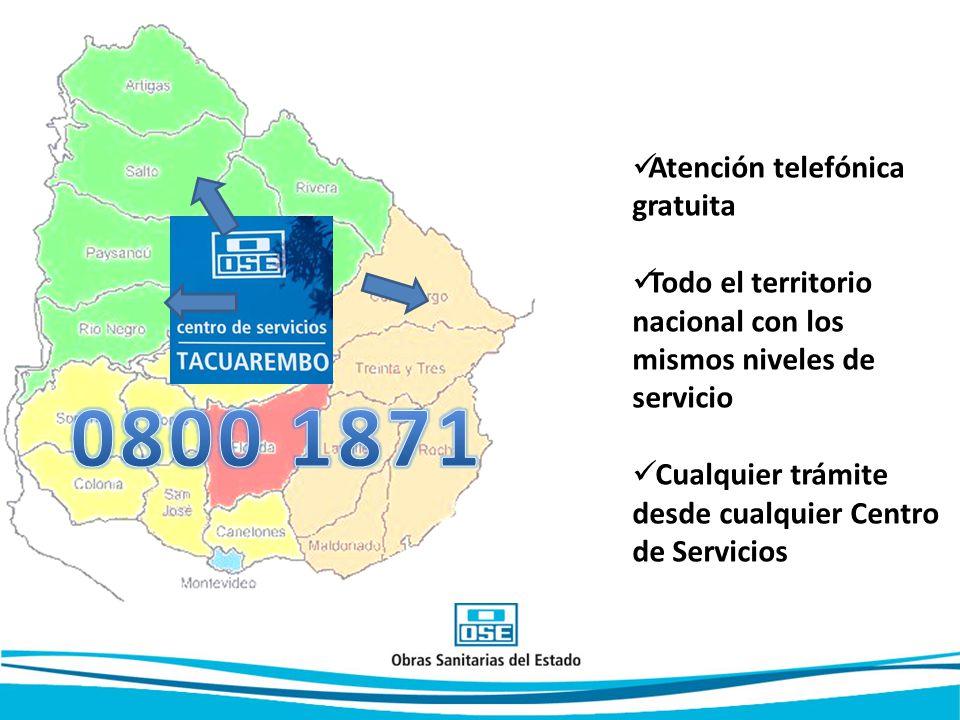 0800 1871 Atención telefónica gratuita