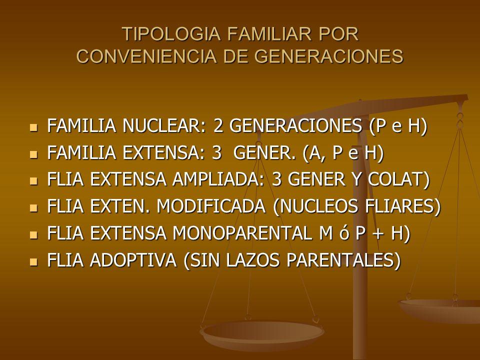 TIPOLOGIA FAMILIAR POR CONVENIENCIA DE GENERACIONES