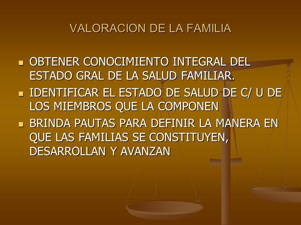 VALORACION DE LA FAMILIA