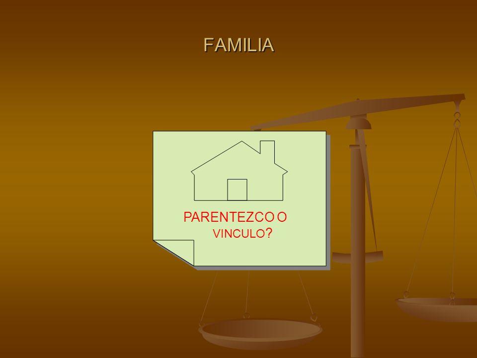 FAMILIA PARENTEZCO O VINCULO