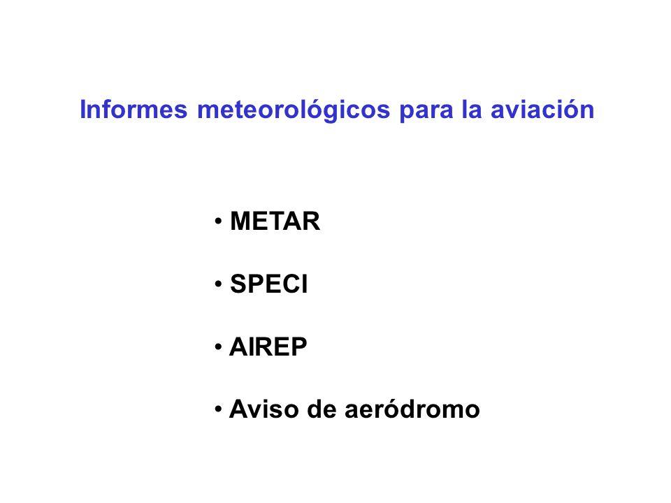 Informes meteorológicos para la aviación