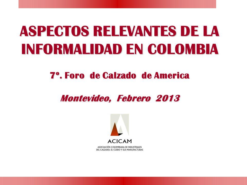 ASPECTOS RELEVANTES DE LA INFORMALIDAD EN COLOMBIA 7º