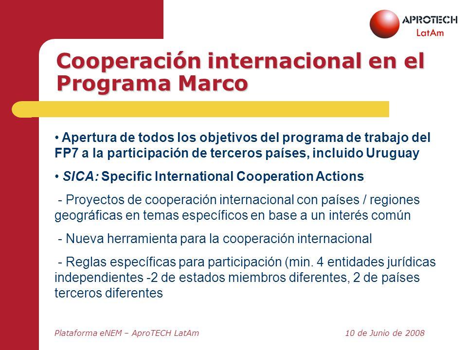 Cooperación internacional en el Programa Marco