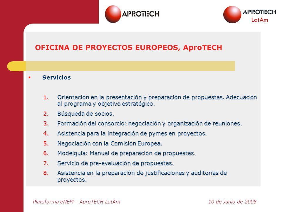 OFICINA DE PROYECTOS EUROPEOS, AproTECH