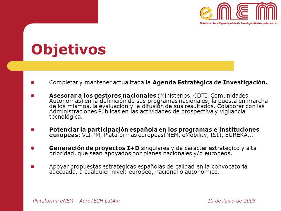 Objetivos Completar y mantener actualizada la Agenda Estratégica de Investigación.