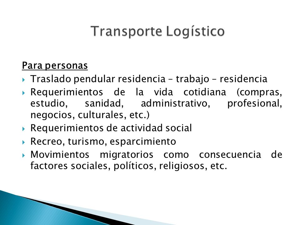 Transporte Logístico Para personas