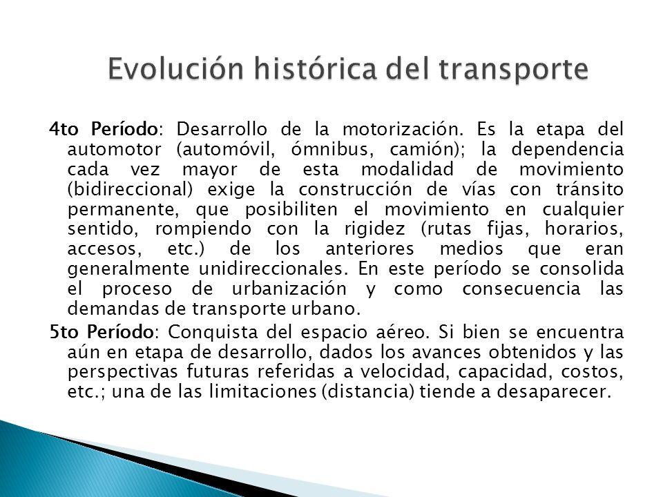 Evolución histórica del transporte