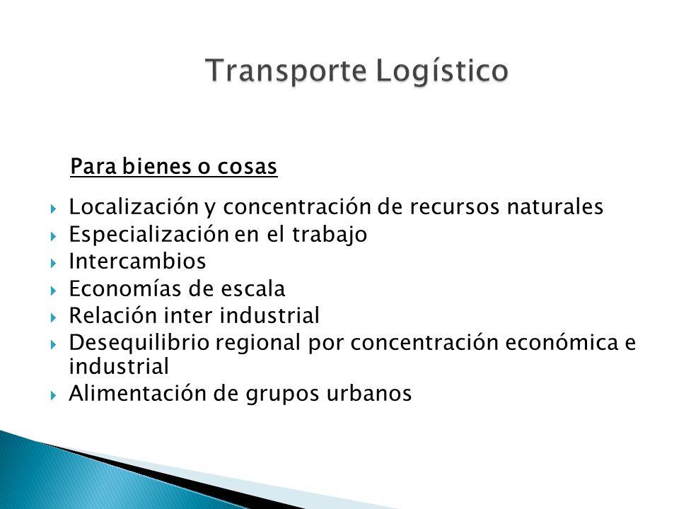 Para bienes o cosas Transporte Logístico