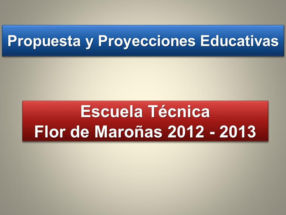 Propuesta y Proyecciones Educativas