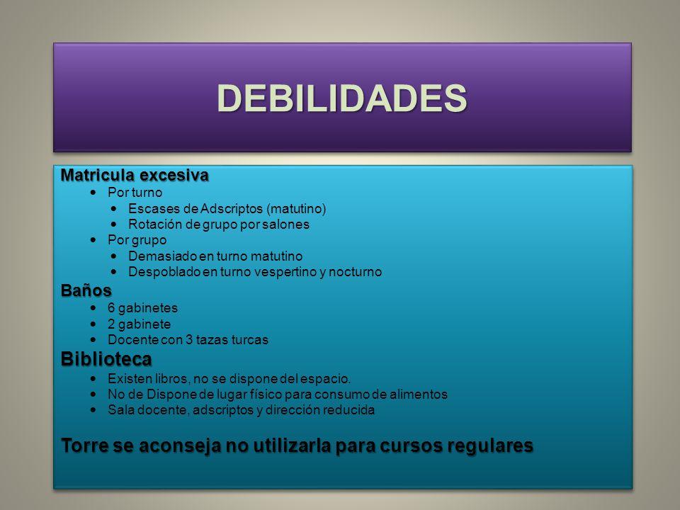 DEBILIDADES Biblioteca