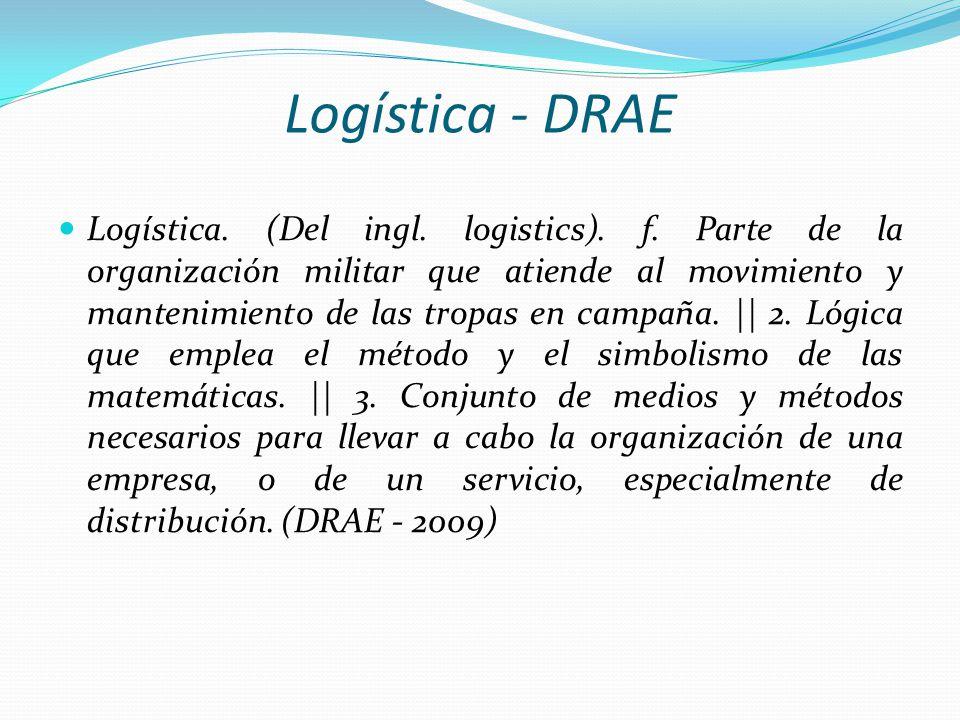 Logística - DRAE