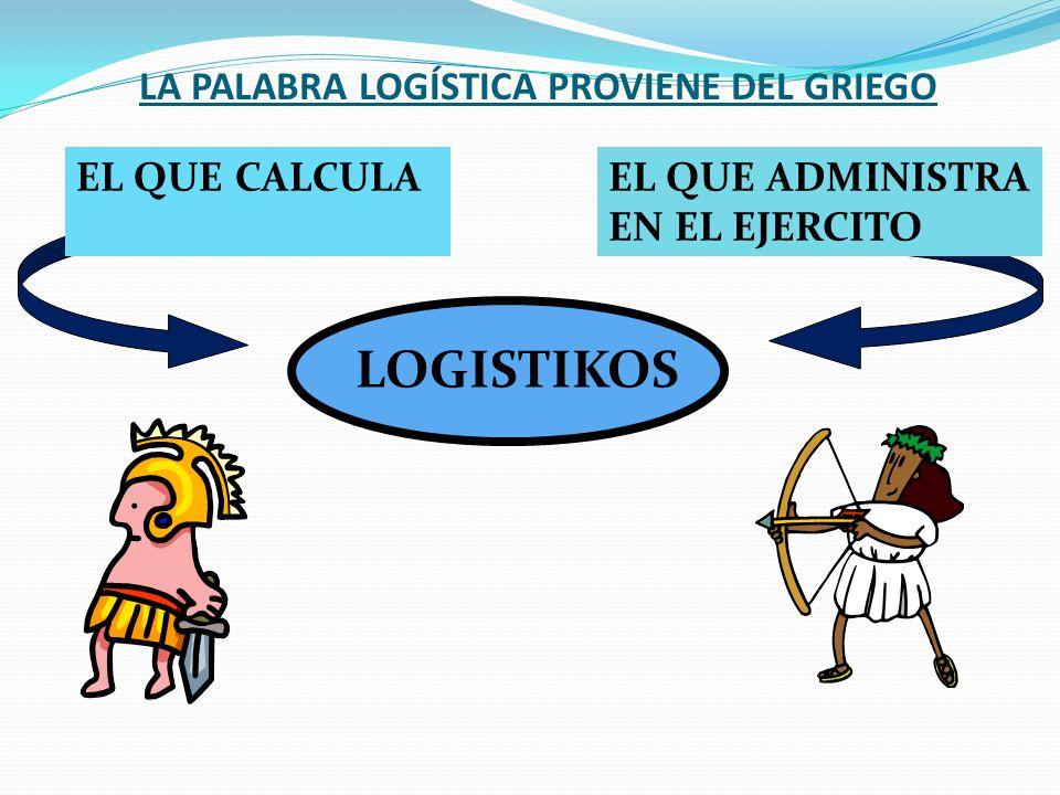 LA PALABRA LOGÍSTICA PROVIENE DEL GRIEGO