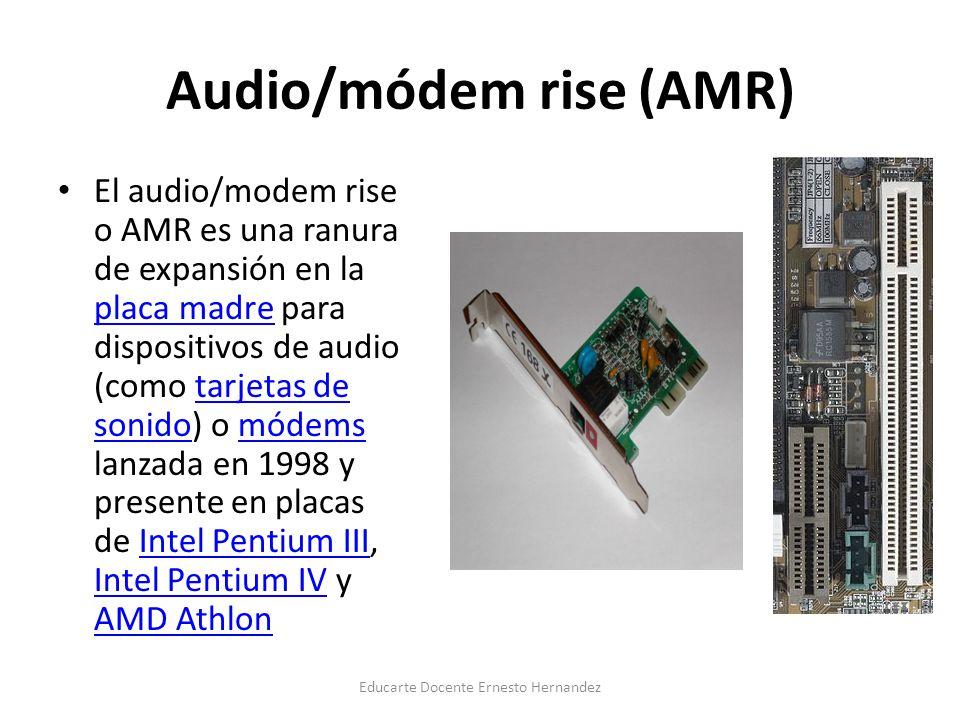 Audio/módem rise (AMR)