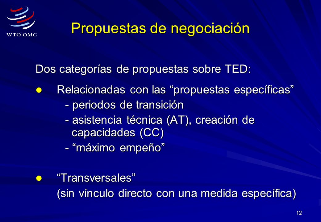 Propuestas de negociación