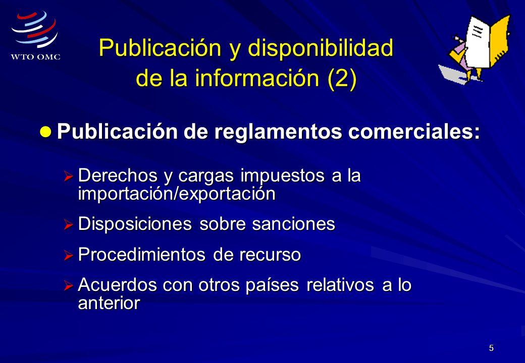 Publicación y disponibilidad de la información (2)