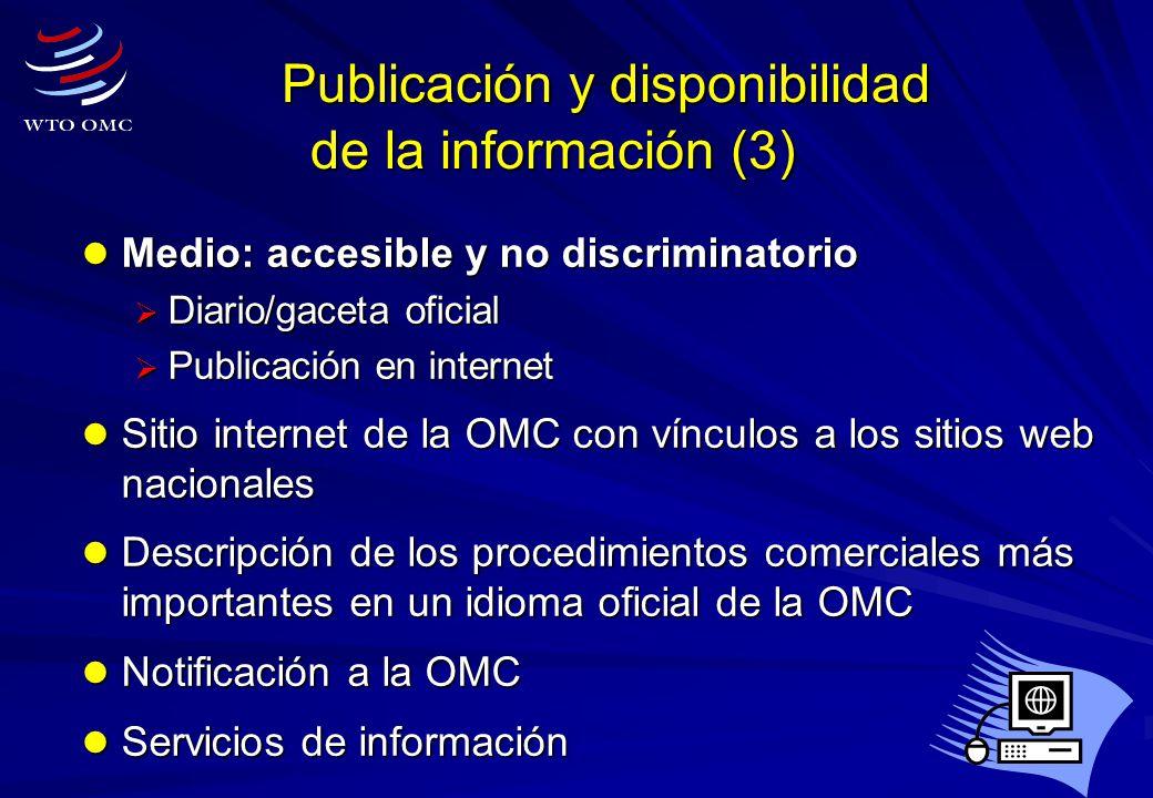 Publicación y disponibilidad de la información (3)